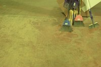 You can clean concrete with a pressure washer.