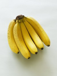 Select firm, bright bananas with the stems and tips still intact.