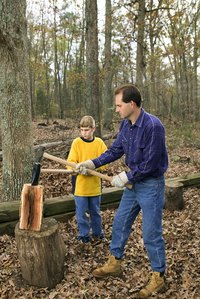 Increase woodcutting efficiency with a jack log splitter.