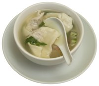Wonton soup is a classic Chinese meal.