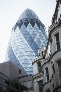 London's 30 St. Mary Axe is an example of 21st-century architecture.