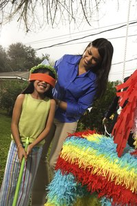 Homemade pinatas save you money at the party supply store.