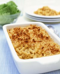 Take steps throughout preparation to keep macaroni and cheese creamy.