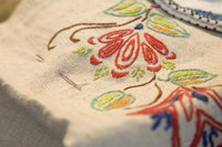 Hand embroidery can be beautiful but time-consuming.
