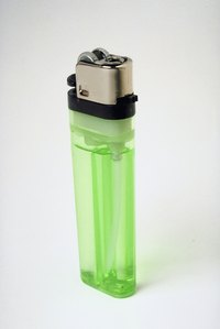 Bic lighters can either come in transparent or opaque containers.