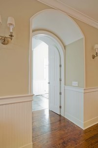Show off the shape of your archway with a simple curtain.