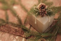 Pinecones make wonderful gift-wrap embellishents.