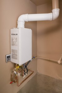 Tankless water heaters take up little space compared to tank-style models.