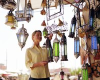 You can save money by making your own Moroccan-style colored lanterns.