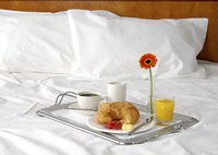 Breakfast in bed, room service.