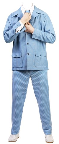 Polyester suits can be dyed a variety of colors.