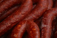 For variety, try kielbasa sausage without its crisp outer skin.
