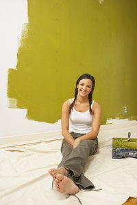 If your wall has lots of imperfections, satin paint is better than semi-gloss paint.