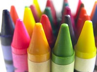 Melt chunks of crayon on canvas or paper for 3-D art.