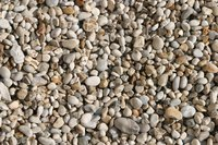Rock mulch is much more practical if you can buy it in bulk from a gravel or cement company.