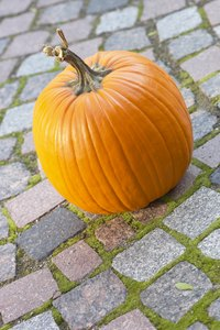 Make your pumpkin stand out by decorating it like a baseball player.
