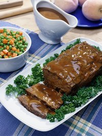 Meatloaf entrees can be seasoned and spiced according to diners' preferences.