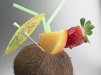 Serve tropical drinks in coconuts at your Gilligan's Island party.