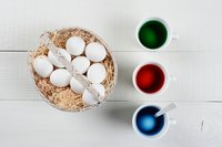 Use a separate container for each egg color dye.