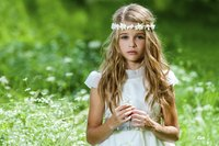 Collect wildflowers to make an inexpensive flower crown.