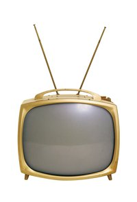 Create an old-style television with antennae or a more modern flat-screen TV.