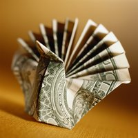 Craft origami shapes using dollar bills.