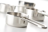Stainless steel tri-ply pans are easy to clean.