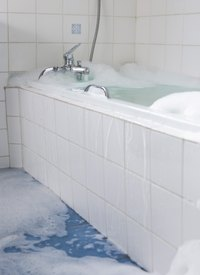 Over time, bathtubs can become cracked and scratched.