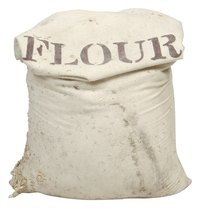 Flour combines with other ingredients to form a durable cement.