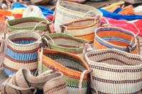 Make your own colorful and artful woven handbags.