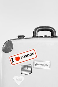 Create decorative or useful stickers for suitcases, car bumpers or your laptop case.