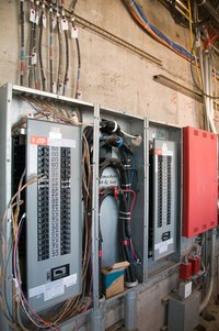 Some large buildings have multiple service panels.