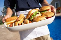 Burgers and hot dogs may not be gourmet fare, but they're crowd-pleasers.