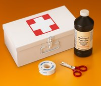 This common first aid kit item can be used to rid your grass of fungus.