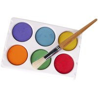 Watercolors are dried paints you can hydrate with varying levels of water.