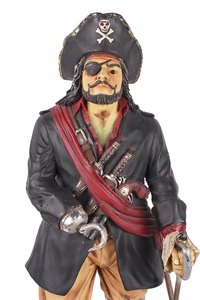 Pirates are often depicted with a hook instead of a hand.