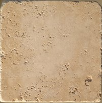 Travertine tile has a natural color that can be covered up to your preference.