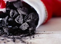 Lumps of coal in a Christmas stocking.