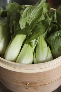 Small baby bok choy stalks cook more quickly than the larger, more mature varieties.