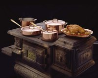 Copper is traditional cookware material.