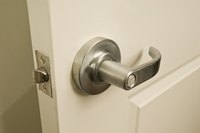 Door locks can work themselves loose with extended use.