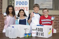 Hold a food drive at the party to benefit others.