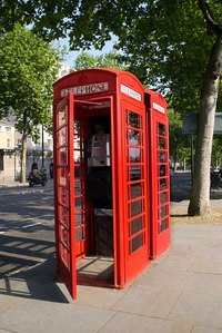 Red telephone boxes are a common sight in the UK and some former British colonies.