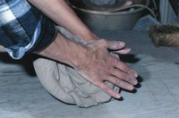 Take your time to shape the clay mold just as you would like the fiberglass set.