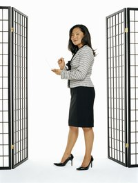 Design and build a freestanding shoji screen to divide a large room.