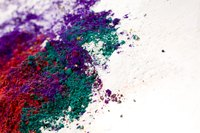 Homemade paint pigment is typically powdered, the results of grinding natural ingredients.