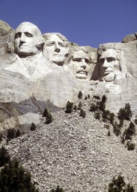 Mt. Rushmore is made of granite.