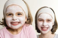 Facials are a fun spa-party activity for girls.