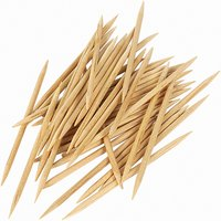 Use toothpicks to create a craft teepee.