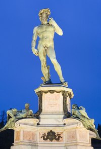 The Statue of David by Michelangelo is one of the world's most recognizable art pieces.